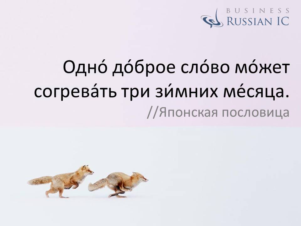 business Russian_aphorism_good word